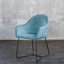 kawola esszimmerstuhl zina stoff blau