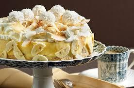 bananen kokos torte