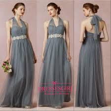 new 2015 grey purple bridesmaid dresses for womens halter lace