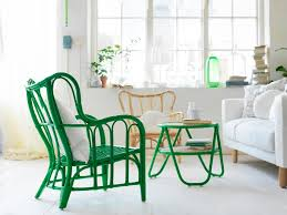 rattansessel in grün wohnzimmer sessel ikea sofa