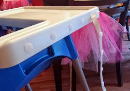 Triplets + Toddler: DIY Tutus And High Chair Skirts Chair Tulle Table Skirt Wedding Decorative High Chair Decor Baby Originals Group 1st Birthday Frozen Saan Bibili Aytai New Tutu Pink Blue Handmade Decorations For Girl Kit Includes Princess I Am One Highchair Banner With Cheap Find Deals On Line Party 6xhoneycomb Tue Bal Romantic 276x138 Babys Jerusalem House