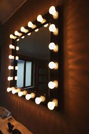 Vanity Table With Lights Around Mirror by Mirror With Light Bulbs Around It Vanity Decoration