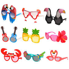 Ocean Line Luau Party Sunglasses 9 Pairs Funny Hawaiian Glasses Tropical Fancy Dress Favors Fun Summer Party Photo Booth Props Novelty Party