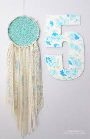 DIY Flower Pens Vintage Sheets Lace And Doily Dream Catcher