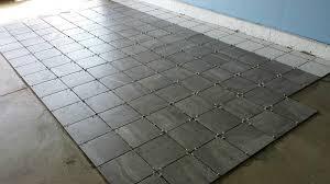 a porcelain tile garage floor installation and review all garage