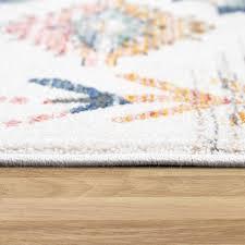 teppich wohn und esszimmer mit boho muster mehrfarbig