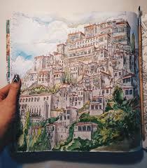 Fantastic Cities Adult ColoringColoring BooksColouringIllustration