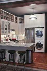 Great Way To Put The Washer Dryer Next Refrigerator Basement Apartment DecorApartment Kitchen DecoratingSmall