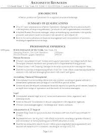 Resume Objective Management Sample