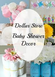 DIY baby shower decorating ideas that are easy Things you can make from the Dollar Store for your baby shower that are cheap centerpieces girl or boy