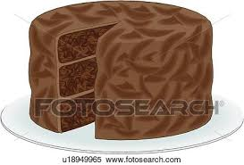 Clipart Chocolate Cake Fotosearch Search Clip Art Illustration Murals Drawings and