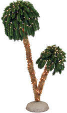 Mountain King Tropical 6 Pre Lit Double Palm Tree NEW CLEARANCE