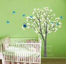 Wall Mural Decals Nature by Nursery Wall Decal Owl Children Nature Green Tree Wall Mural Tree