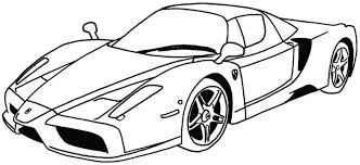 Car Coloring Pages Online Free Bugatti Disney Printable Race Page Large Size