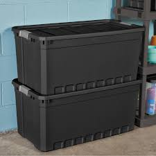 Christmas Tree Storage Container Walmart by Sterilite 50 Gallon 189 Liter Stacker Tote Walmart Com