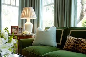 Chinoiserie Chic Green Velvet Sofa High Low And Inspiration