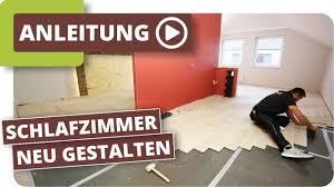 schlafzimmer neu gestalten boden und wände renovieren
