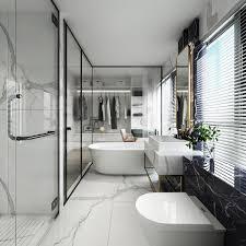 100 Marble Walls Luxuryglasswallbathroomwithwhitemarblefloorsand