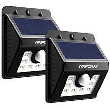 2 pack mpow le solaire led etanche faro lumiere 8 led avec