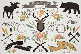 Rustic Mountain Lodge Clipart