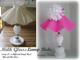 Kammy s Korner Darling n Girly Milk Glass Lamp