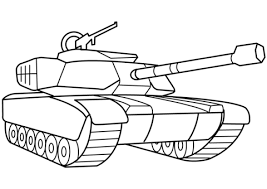 Click To See Printable Version Of Military Tank Coloring Page