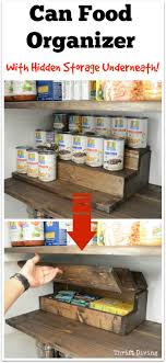 Pantry Makeover and Can Food Organizer With Hidden Storage Inside