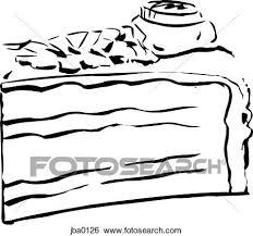 Cake slice b&w