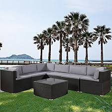 Amazon Prime Patio Chair Cushions by Amazon Com Leisure Zone 7 Piece Patio Furniture Set Outdoor