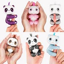 Finger Puppets Panda Fingerling Animal Interactive Baby Cute Touch Sensor Soft