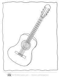 Sheets Guitar Coloring Page 67 In Pages For Kids Online With Printable