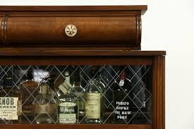 SOLD Art Deco Oak Vintage Scandinavian Sideboard Bar Cabinet