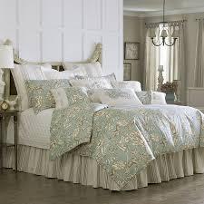 J Queen New York Kingsbridge Curtains by Gramercy Comforter Set Luxury Bedding Floral 4 Piece Sage