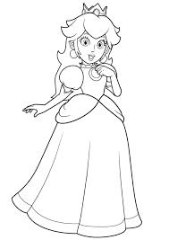 Super Mario Princess Peach Coloring Pages To Print Printable