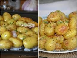 comment cuisiner des pommes de terre pommes de terre grenaille rôties au four le de c est
