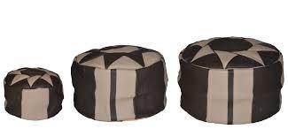 pouf en cuir marocain fait à la lartisanet