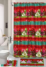 Camo Bathroom Rug Set by Leopard Shower Curtain Set Double Swag Bathroom Shower Curtain