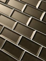 abolos secret dimensions 3 x 6 glass subway tile in brown wayfair