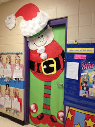 Kindergarten Thanksgiving Door Decorations by Christmas Door Decorations For Santa Elf Door From