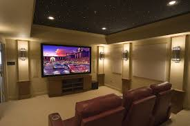 acoustic ideas home theater contemporary with ceiling treatment