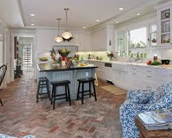 kitchen astounding brick floors in kitchen outstanding brick