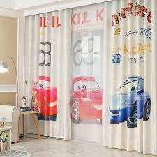 rideau chambre garcon 3d impression catooon voitures rideaux pour les enfants chambre