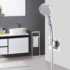 abs kunststoff 3 spray 360 grad swivil detachabel hochdruck wasserhahn zubehör badezimmer dusche kopf mit stop taste
