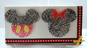 Mickey And Minnie Bathroom Accessories by Mickey And Minnie String Art Disney String Art Custom Wall