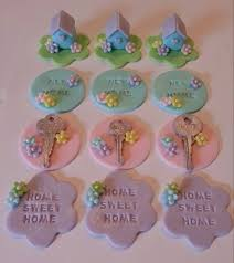 12 Fondant Housewarming Cupcake Toppers Via Etsy