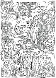 Coloring Pages Cats And Dogs Free Pretty Cat For Adult Printable