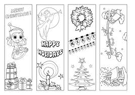 Christmas Bookmark Coloring Page