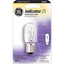 ge 25 watt t 8 microwave oven light bulb 90466 ls plus