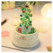 Fiber Optic Rotating Tabletop Christmas Tree by Christmas Tree With Music Christmas Lights Decoration