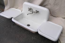 sinks antique cast iron kitchen sink with drainboard antique